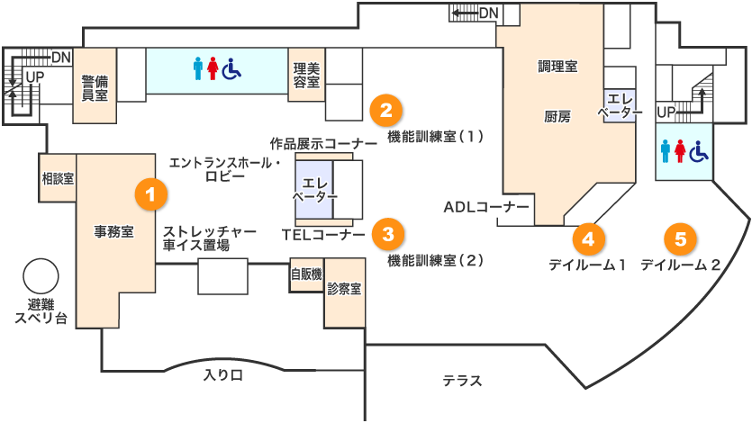 1階フロアマップ画像