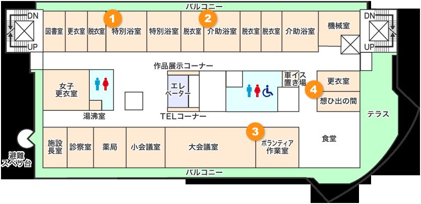 2階フロアマップ画像
