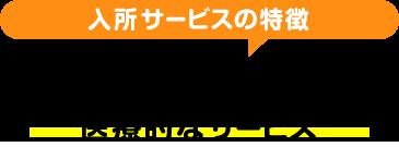 入所サービスの特徴【医療・ケアサービス】医療的なサービス